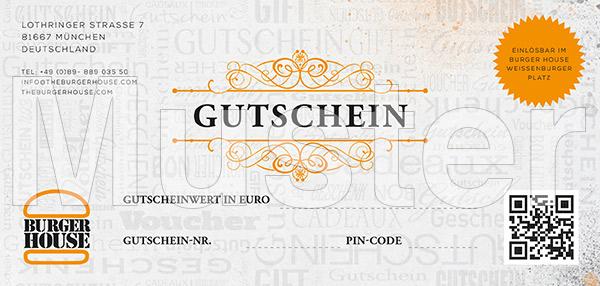 Gutschein Musterbild Burger House Weißenburger Platz