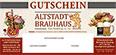 """Gutschein Musterbild Altstadtbrauhaus """"Zum Stadtkrug"""""""