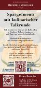 Spargelmenü mit kulinarischer Talkrunde im Ratskeller Bremen