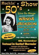 The ROCKIN´ 50s mit Wanda Jackson im Obermaier