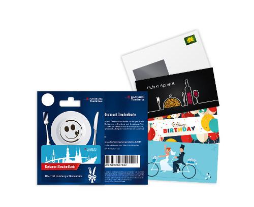 Vorschau unserer Hamburg Restaurant-Geschenkkarte mit ausgewählten Grußkarten